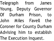 Telegraph from James